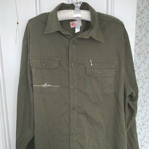 Vintage Volcom army green shirt, extra large.